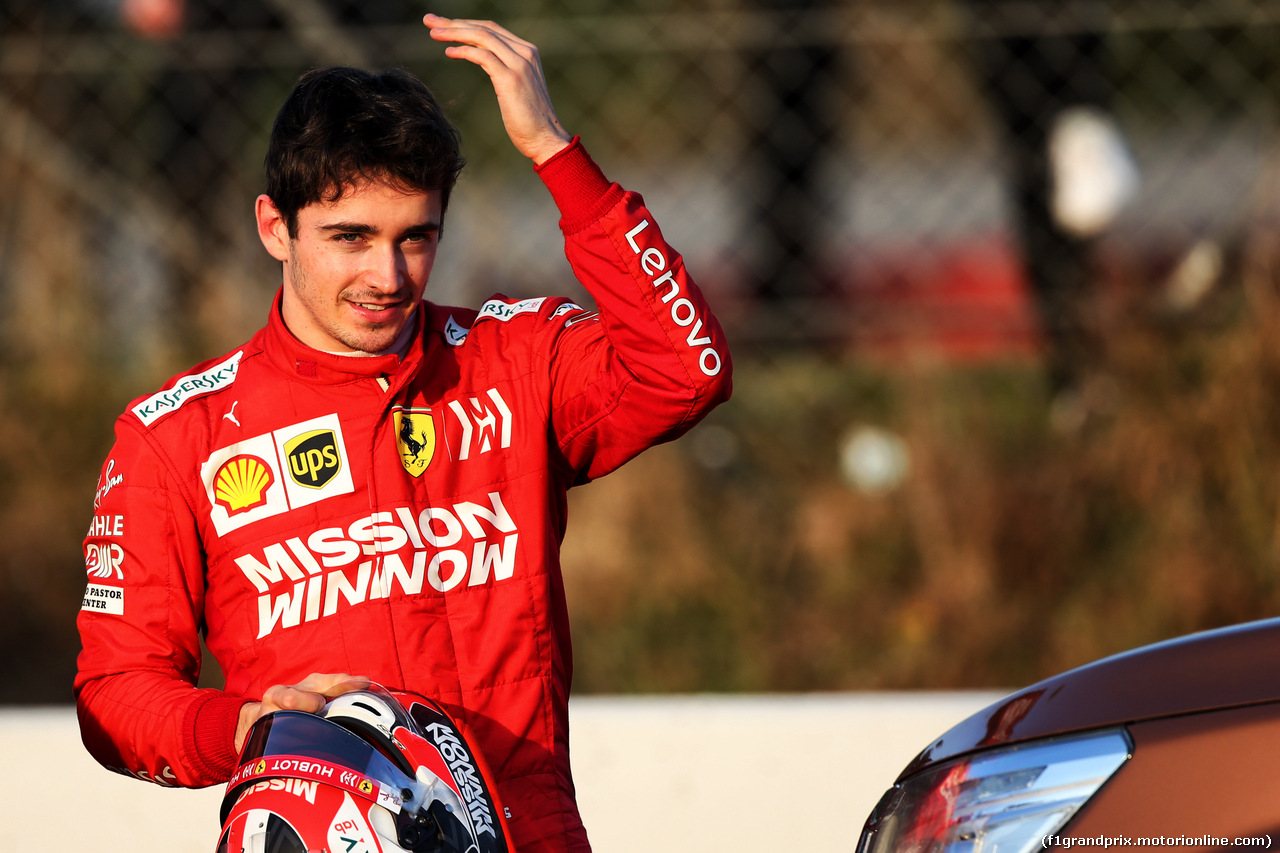 TEST F1 BARCELLONA 28 FEBBRAIO, Charles Leclerc (MON) Ferrari stops on the circuit. 28.02.2019.