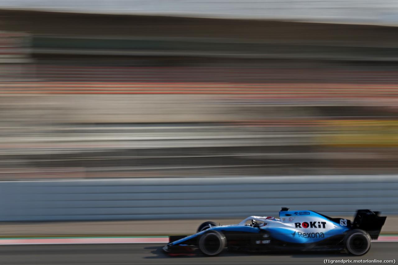 TEST F1 BARCELLONA 28 FEBBRAIO, George Russell (GBR), Williams F1 Team  28.02.2019.