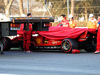 TEST F1 BARCELLONA 28 FEBBRAIO, The Ferrari SF90 of Charles Leclerc (MON) Ferrari is recovered back to the pits on the back of a truck. 28.02.2019.