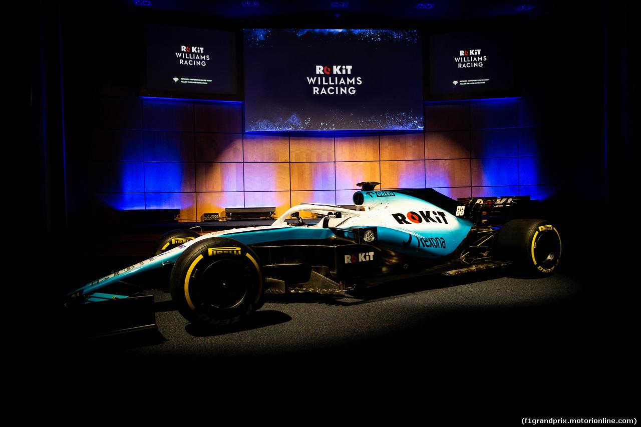 WILLIAMS LIVREA ROCKIT, Williams Racing 2019 livery unveil. 11.02.2019.