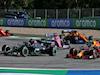 GP AUSTRIA, (L to R): Lewis Hamilton (GBR) Mercedes AMG F1 W11 e Alexander Albon (THA) Red Bull Racing RB16 battle for position. 05.07.2020. Formula 1 World Championship, Rd 1, Austrian Grand Prix, Spielberg, Austria, Gara Day. - www.xpbimages.com, EMail: requests@xpbimages.com © Copyright: Batchelor / XPB Images