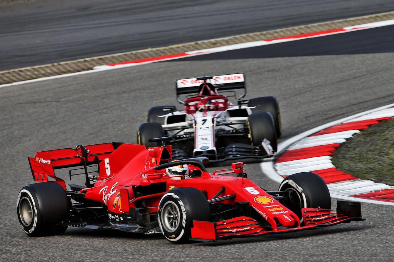 GP EIFEL, Sebastian Vettel (GER) Ferrari SF1000. 11.10.2020. Formula 1 World Championship, Rd 11, Eifel Grand Prix, Nurbugring, Germany, Gara Day. - www.xpbimages.com, EMail: requests@xpbimages.com © Copyright: Batchelor / XPB Images