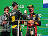 GP EIFEL, (L to R): Daniel Ricciardo (AUS) Renault F1 Team celebrates his third position on the podium with second placed Max Verstappen (NLD) Red Bull Racing.