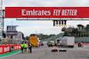GP EMILIA ROMAGNA, Circuit Atmosfera - lorries on the partenza / finish straight. 29.10.2020. Formula 1 World Championship, Rd 13, Emilia Romagna Grand Prix, Imola, Italy, Preparation Day. - www.xpbimages.com, EMail: requests@xpbimages.com © Copyright: Moy / XPB Images