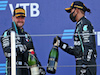 GP RUSSIA, (L to R): Gara winner Valtteri Bottas (FIN) Mercedes AMG F1 celebrates on the podium with third placed team mate Lewis Hamilton (GBR) Mercedes AMG F1.