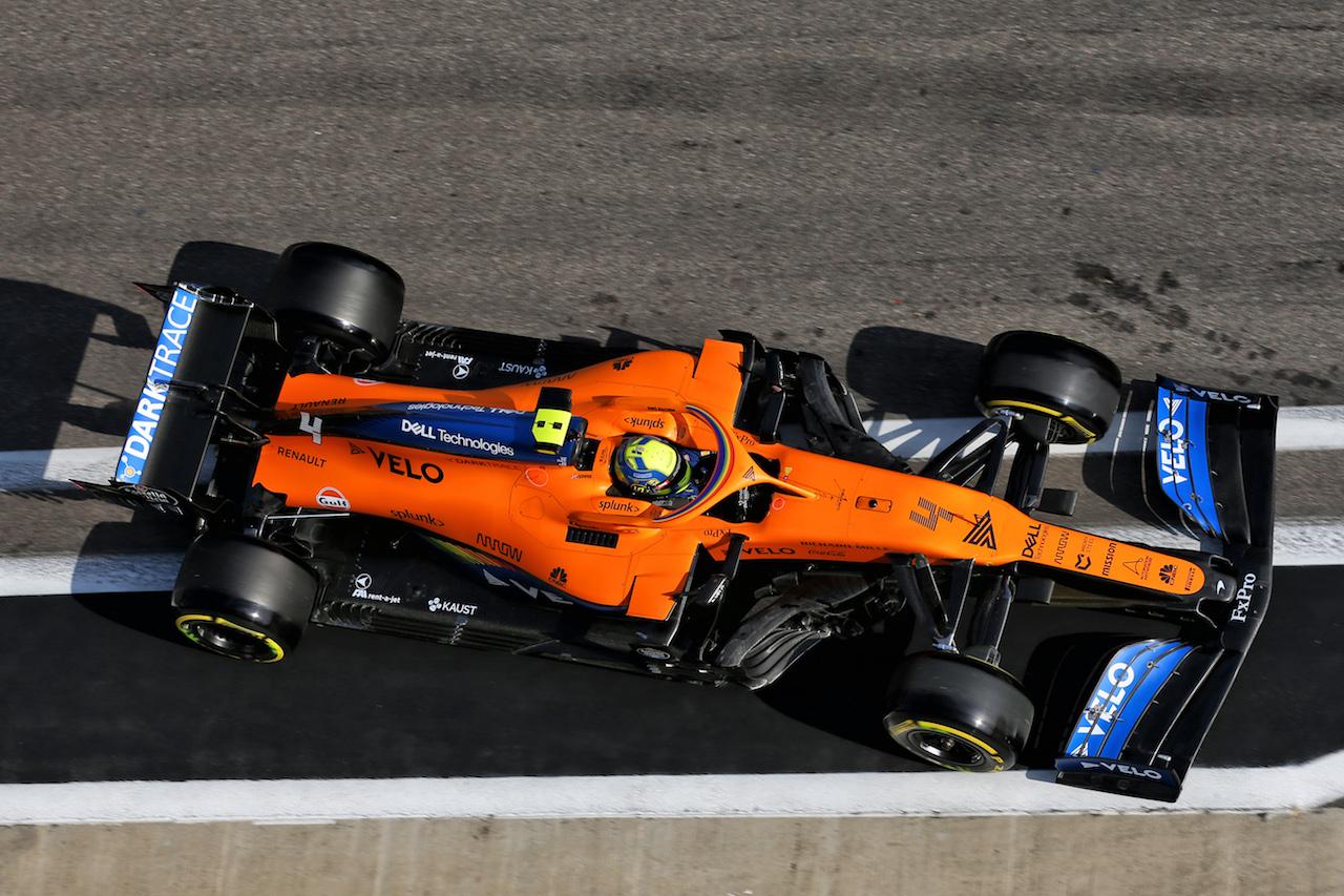 GP RUSSIA, Lando Norris (GBR) McLaren MCL35. 25.09.2020. Formula 1 World Championship, Rd 10, Russian Grand Prix, Sochi Autodrom, Sochi, Russia, Practice Day. - www.xpbimages.com, EMail: requests@xpbimages.com © Copyright: Batchelor / XPB Images
