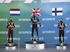 GP SPAGNA, The podium (L to R): Max Verstappen (NLD) Red Bull Racing, second; Lewis Hamilton (GBR) Mercedes AMG F1, vincitore; Valtteri Bottas (FIN) Mercedes AMG F1, third. 16.08.2020. Formula 1 World Championship, Rd 6, Spanish Grand Prix, Barcelona, Spain, Gara Day. - www.xpbimages.com, EMail: requests@xpbimages.com - copy of publication required for printed pictures. Every used picture is fee-liable. © Copyright: FIA Pool Image for Editorial Use Only