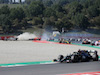 GP TOSCANA FERRARI 1000, Max Verstappen (NLD) Red Bull Racing RB16 crashes out of the race with Romain Grosjean (FRA) Haas F1 Team VF-20 e Kimi Raikkonen (FIN) Alfa Romeo Racing C39.