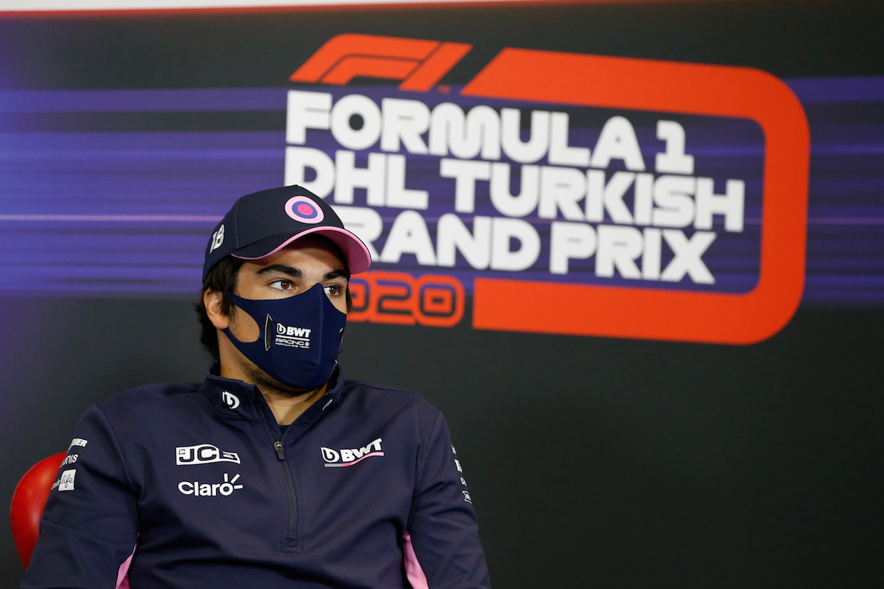 GP TURCHIA, Lance Stroll (CDN) Racing Point F1 Team in the FIA Press Conference. 12.11.2020. Formula 1 World Championship, Rd 14, Turkish Grand Prix, Istanbul, Turkey, Preparation Day. - www.xpbimages.com, EMail: requests@xpbimages.com © Copyright: FIA Pool Image for Editorial Use Only