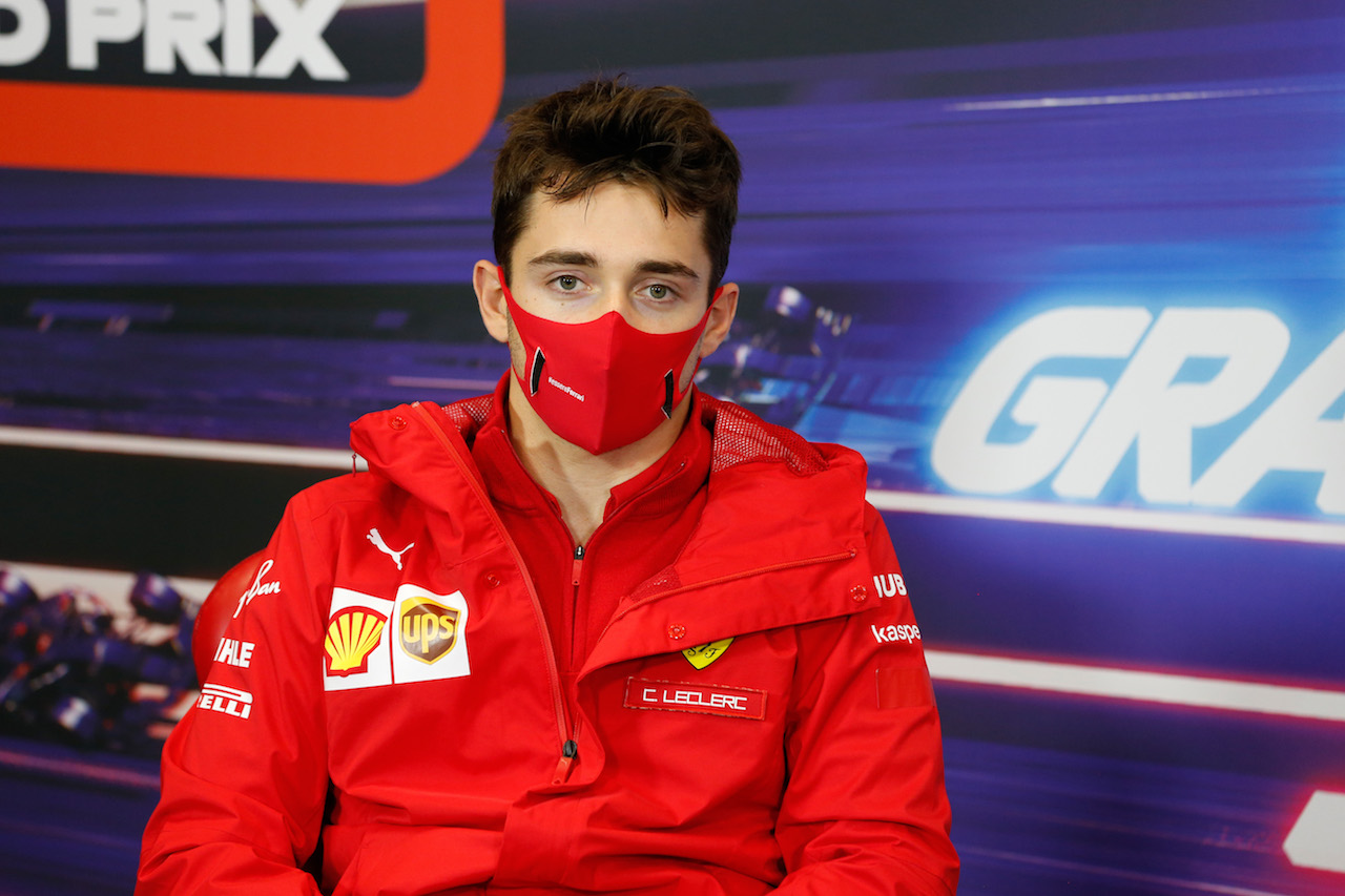 GP TURCHIA, Charles Leclerc (MON) Ferrari in the FIA Press Conference. 12.11.2020. Formula 1 World Championship, Rd 14, Turkish Grand Prix, Istanbul, Turkey, Preparation Day. - www.xpbimages.com, EMail: requests@xpbimages.com © Copyright: FIA Pool Image for Editorial Use Only