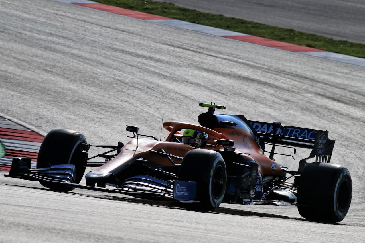 GP TURCHIA, Lando Norris (GBR) McLaren MCL35. 13.11.2020 Formula 1 World Championship, Rd 14, Turkish Grand Prix, Istanbul, Turkey, Practice Day. - www.xpbimages.com, EMail: requests@xpbimages.com © Copyright: Batchelor / XPB Images