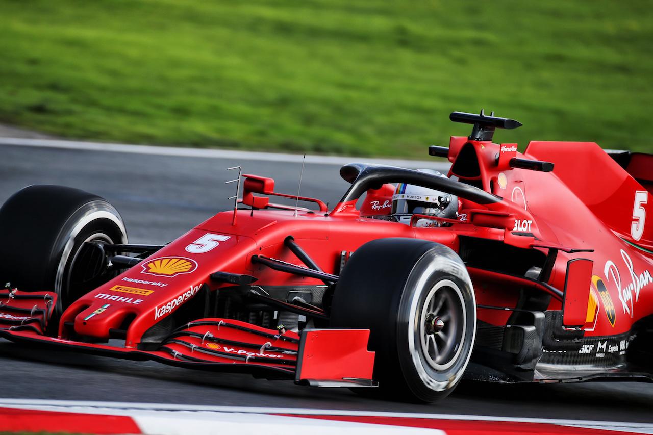 GP TURCHIA, Sebastian Vettel (GER) Ferrari SF1000. 13.11.2020 Formula 1 World Championship, Rd 14, Turkish Grand Prix, Istanbul, Turkey, Practice Day. - www.xpbimages.com, EMail: requests@xpbimages.com © Copyright: Batchelor / XPB Images