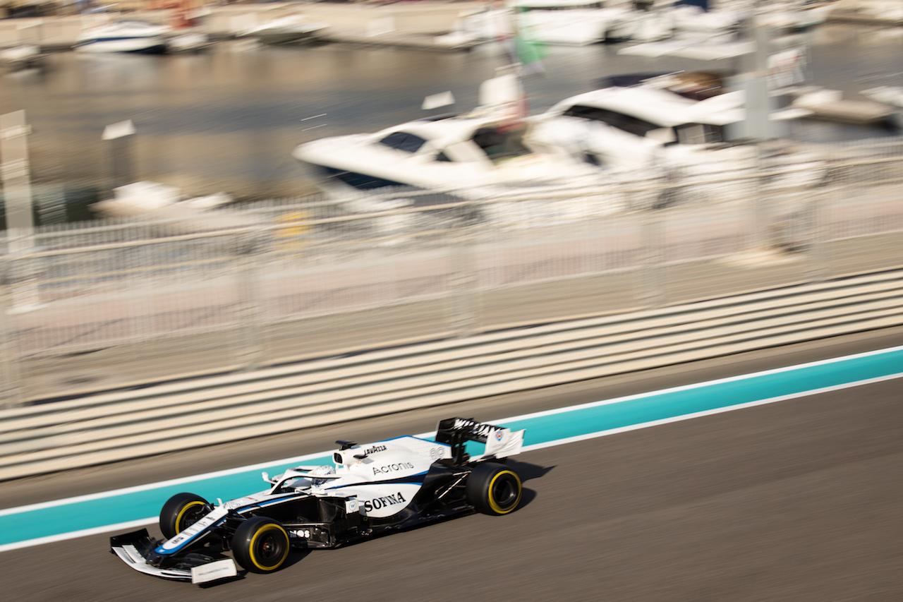 YOUNG DRIVER TEST ABU DHABI, Jack Aitken (GBR) / (KOR) Williams Racing FW43. 15.12.2020. Formula 1 Testing, Yas Marina Circuit, Abu Dhabi, Tuesday. - www.xpbimages.com, EMail: requests@xpbimages.com © Copyright: Bearne / XPB Images