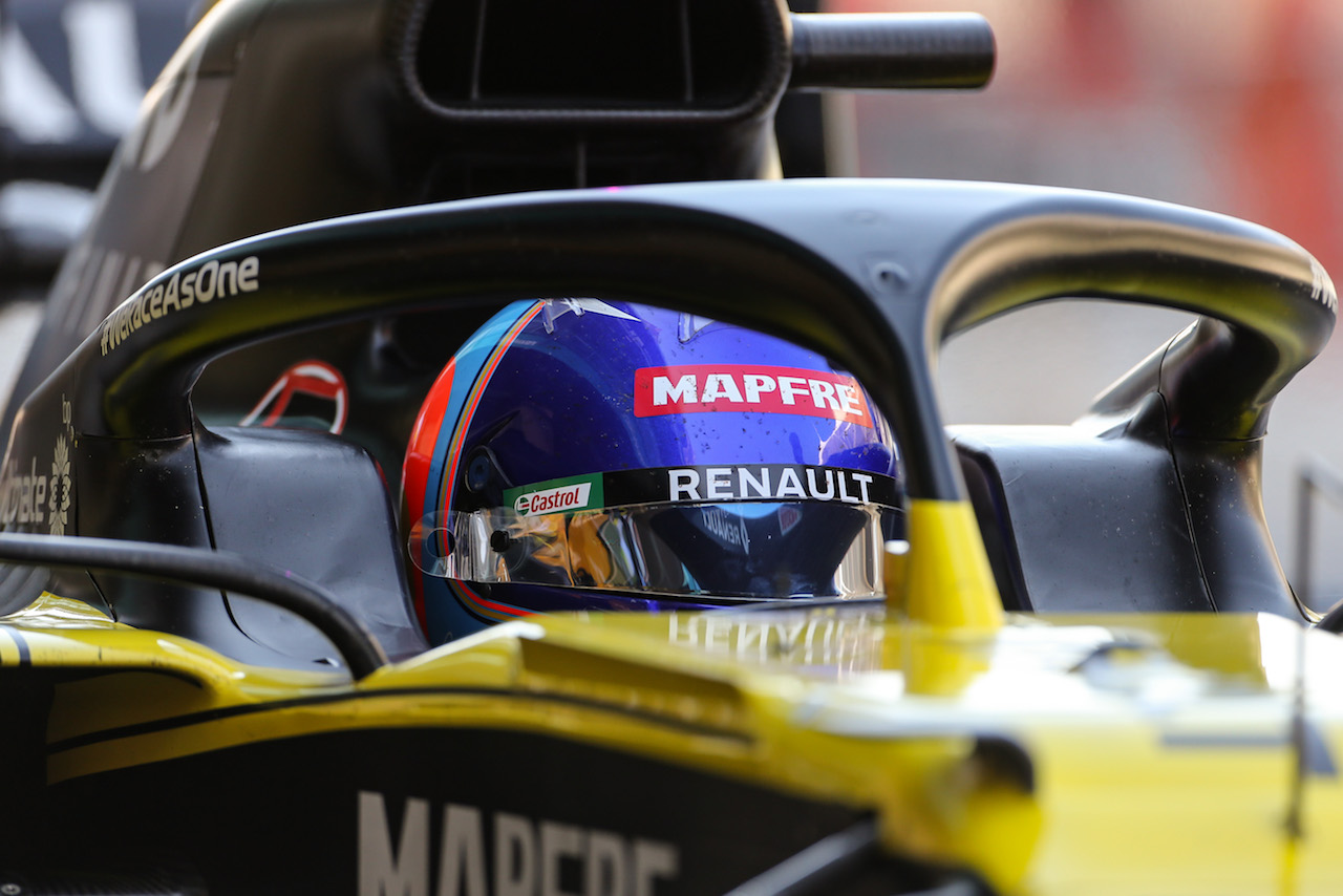 YOUNG DRIVER TEST ABU DHABI, Fernando Alonso (ESP) Renault F1 Team RS20. 15.12.2020. Formula 1 Testing, Yas Marina Circuit, Abu Dhabi, Tuesday. - www.xpbimages.com, EMail: requests@xpbimages.com © Copyright: Charniaux / XPB Images
