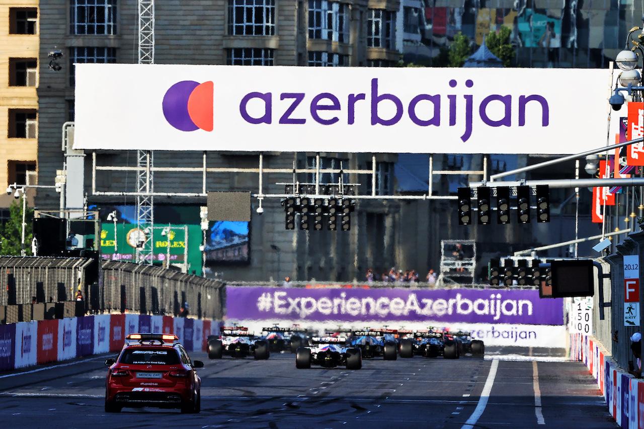 GP AZERBAIJAN, The repartenza of the race. 06.06.2021. Formula 1 World Championship, Rd 6, Azerbaijan Grand Prix, Baku Street Circuit, Azerbaijan, Gara Day. - www.xpbimages.com, EMail: requests@xpbimages.com © Copyright: Moy / XPB Images