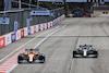 GP AZERBAIJAN, Lando Norris (GBR) McLaren MCL35M e Valtteri Bottas (FIN) Mercedes AMG F1 W12 battle for position. 06.06.2021. Formula 1 World Championship, Rd 6, Azerbaijan Grand Prix, Baku Street Circuit, Azerbaijan, Gara Day. - www.xpbimages.com, EMail: requests@xpbimages.com © Copyright: Batchelor / XPB Images