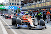 GP AZERBAIJAN, Lando Norris (GBR) McLaren MCL35M in the pits while the race is stopped. 06.06.2021. Formula 1 World Championship, Rd 6, Azerbaijan Grand Prix, Baku Street Circuit, Azerbaijan, Gara Day. - www.xpbimages.com, EMail: requests@xpbimages.com © Copyright: Charniaux / XPB Images