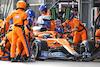 GP AZERBAIJAN, Daniel Ricciardo (AUS) McLaren MCL35M makes a pit stop. 06.06.2021. Formula 1 World Championship, Rd 6, Azerbaijan Grand Prix, Baku Street Circuit, Azerbaijan, Gara Day. - www.xpbimages.com, EMail: requests@xpbimages.com © Copyright: Charniaux / XPB Images