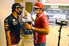 GP AZERBAIJAN, (L to R): Sergio Perez (MEX) Red Bull Racing with Carlos Sainz Jr (ESP) Ferrari. 03.06.2021. Formula 1 World Championship, Rd 6, Azerbaijan Grand Prix, Baku Street Circuit, Azerbaijan, Preparation Day. - www.xpbimages.com, EMail: requests@xpbimages.com © Copyright: FIA Pool Image for Editorial Use Only