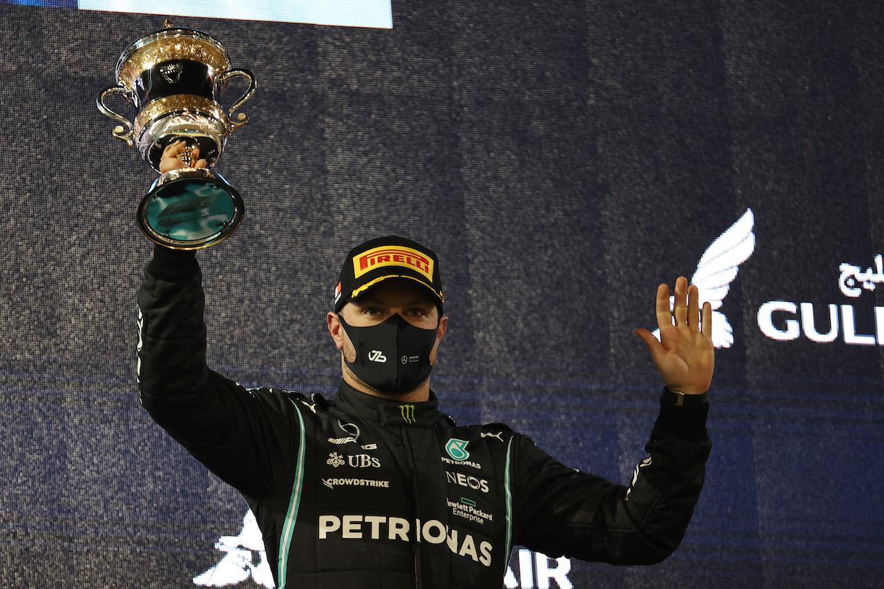 GP BAHRAIN, 3rd place Valtteri Bottas (FIN) Mercedes AMG F1 W12.28.03.2021. Formula 1 World Championship, Rd 1, Bahrain Grand Prix, Sakhir, Bahrain, Gara Day.- www.xpbimages.com, EMail: requests@xpbimages.com © Copyright: Batchelor / XPB Images