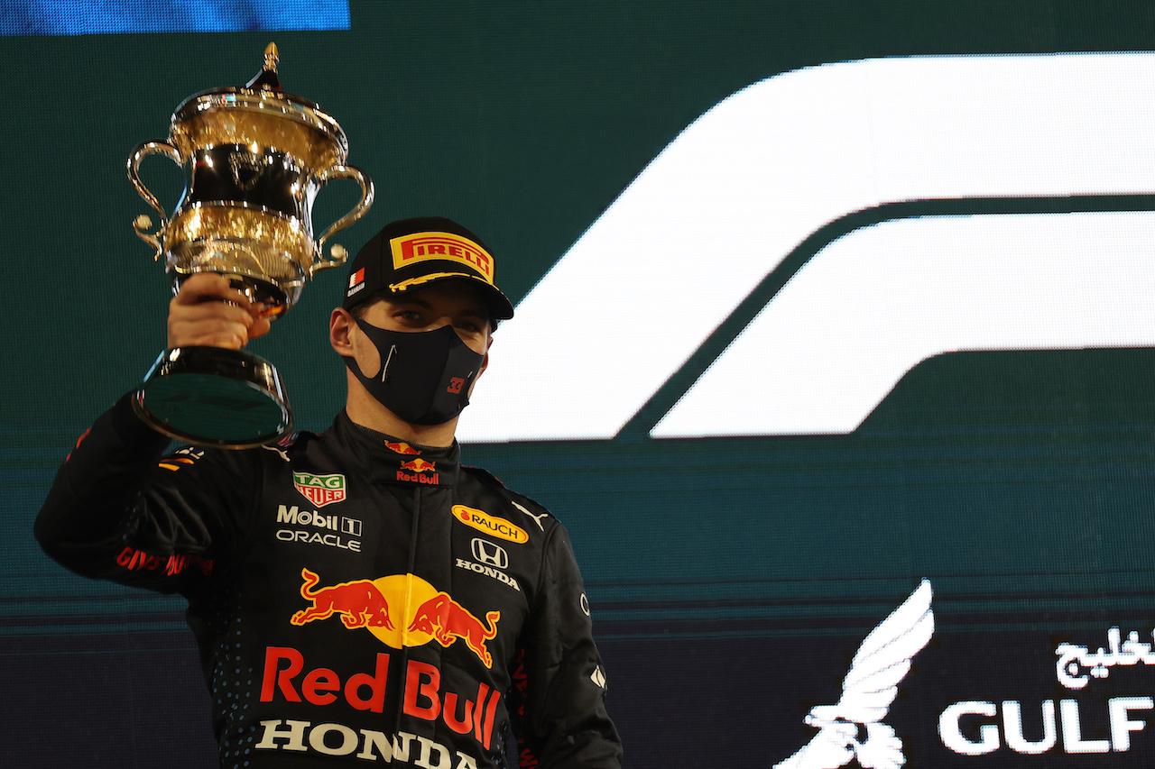 GP BAHRAIN, 2nd place Max Verstappen (NLD) Red Bull Racing.28.03.2021. Formula 1 World Championship, Rd 1, Bahrain Grand Prix, Sakhir, Bahrain, Gara Day.- www.xpbimages.com, EMail: requests@xpbimages.com © Copyright: Batchelor / XPB Images