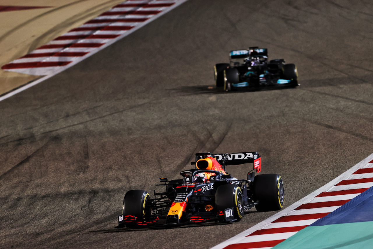 GP BAHRAIN, Max Verstappen (NLD) Red Bull Racing RB16B. 28.03.2021. Formula 1 World Championship, Rd 1, Bahrain Grand Prix, Sakhir, Bahrain, Gara Day. - www.xpbimages.com, EMail: requests@xpbimages.com © Copyright: Charniaux / XPB Images