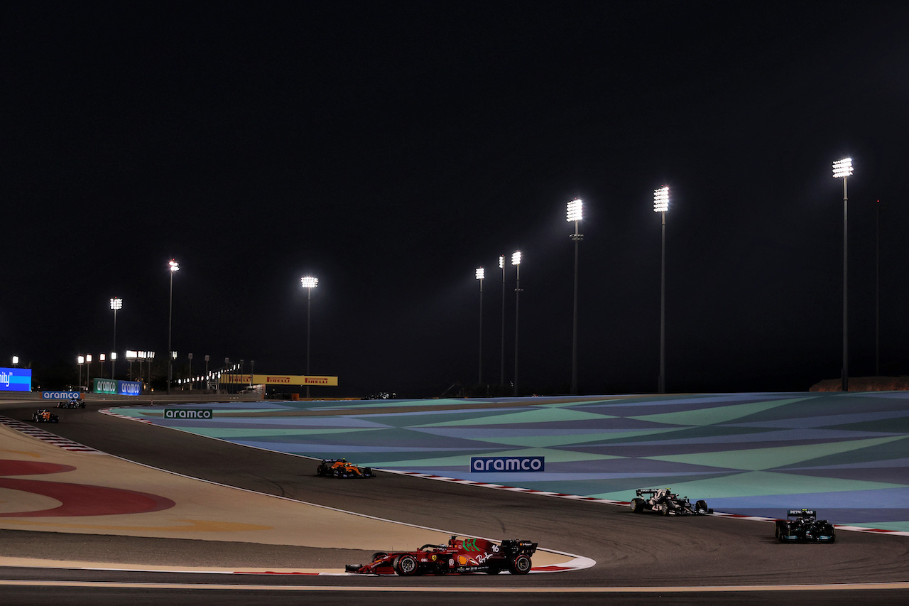 GP BAHRAIN, Charles Leclerc (MON) Ferrari SF-21. 28.03.2021. Formula 1 World Championship, Rd 1, Bahrain Grand Prix, Sakhir, Bahrain, Gara Day. - www.xpbimages.com, EMail: requests@xpbimages.com © Copyright: Charniaux / XPB Images