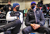 GP BELGIO, (L to R): Fernando Alonso (ESP) Alpine F1 Team e Esteban Ocon (FRA) Alpine F1 Team in the pits while the race is stopped. 29.08.2021. Formula 1 World Championship, Rd 12, Belgian Grand Prix, Spa Francorchamps, Belgium, Gara Day. - www.xpbimages.com, EMail: requests@xpbimages.com © Copyright: Moy / XPB Images