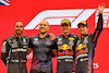 GP FRANCIA, The podium (L to R): Lewis Hamilton (GBR) Mercedes AMG F1, second; Gianpiero Lambiase (ITA) Red Bull Racing Engineer; Max Verstappen (NLD) Red Bull Racing, vincitore; Sergio Perez (MEX) Red Bull Racing, third. 20.06.2021. Formula 1 World Championship, Rd 7, French Grand Prix, Paul Ricard, France, Gara Day. - www.xpbimages.com, EMail: requests@xpbimages.com © Copyright: Moy / XPB Images