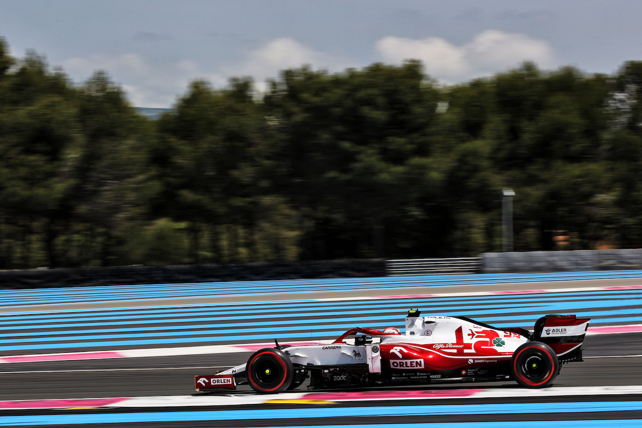 GP FRANCIA, Antonio Giovinazzi (ITA) Alfa Romeo Racing C41. 18.06.2021. Formula 1 World Championship, Rd 7, French Grand Prix, Paul Ricard, France, Practice Day. - www.xpbimages.com, EMail: requests@xpbimages.com © Copyright: Batchelor / XPB Images