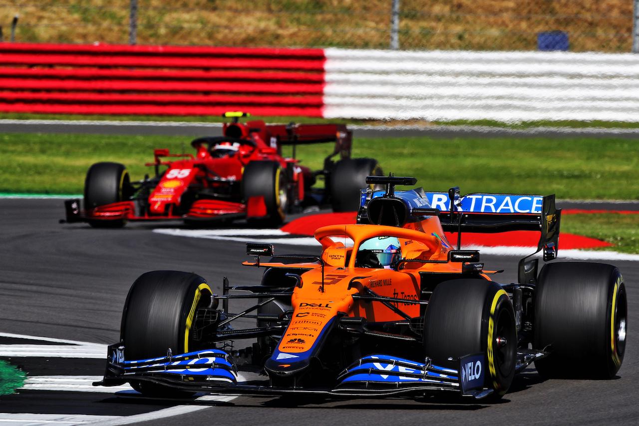 GP GRAN BRETAGNA, Daniel Ricciardo (AUS) McLaren MCL35M. 18.07.2021. Formula 1 World Championship, Rd 10, British Grand Prix, Silverstone, England, Gara Day.  - www.xpbimages.com, EMail: requests@xpbimages.com © Copyright: Davenport / XPB Images