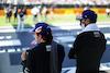 GP GRAN BRETAGNA, (L to R): Fernando Alonso (ESP) Alpine F1 Team e Esteban Ocon (FRA) Alpine F1 Team on the grid. 18.07.2021. Formula 1 World Championship, Rd 10, British Grand Prix, Silverstone, England, Gara Day. - www.xpbimages.com, EMail: requests@xpbimages.com © Copyright: Staley / XPB Images