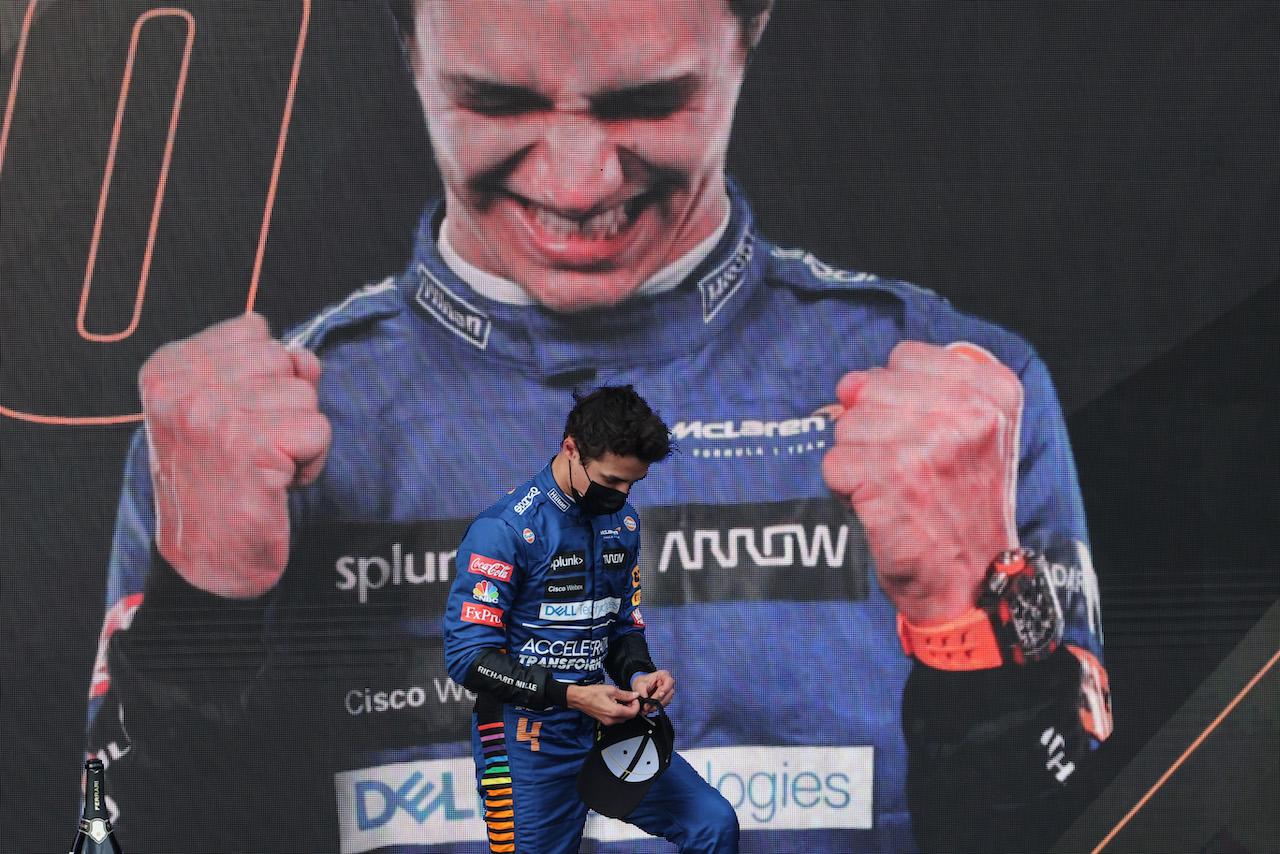 GP IMOLA, Lando Norris (GBR), McLaren F1 Team 18.04.2021. Formula 1 World Championship, Rd 2, Emilia Romagna Grand Prix, Imola, Italy, Gara Day.- www.xpbimages.com, EMail: requests@xpbimages.com © Copyright: Charniaux / XPB Images