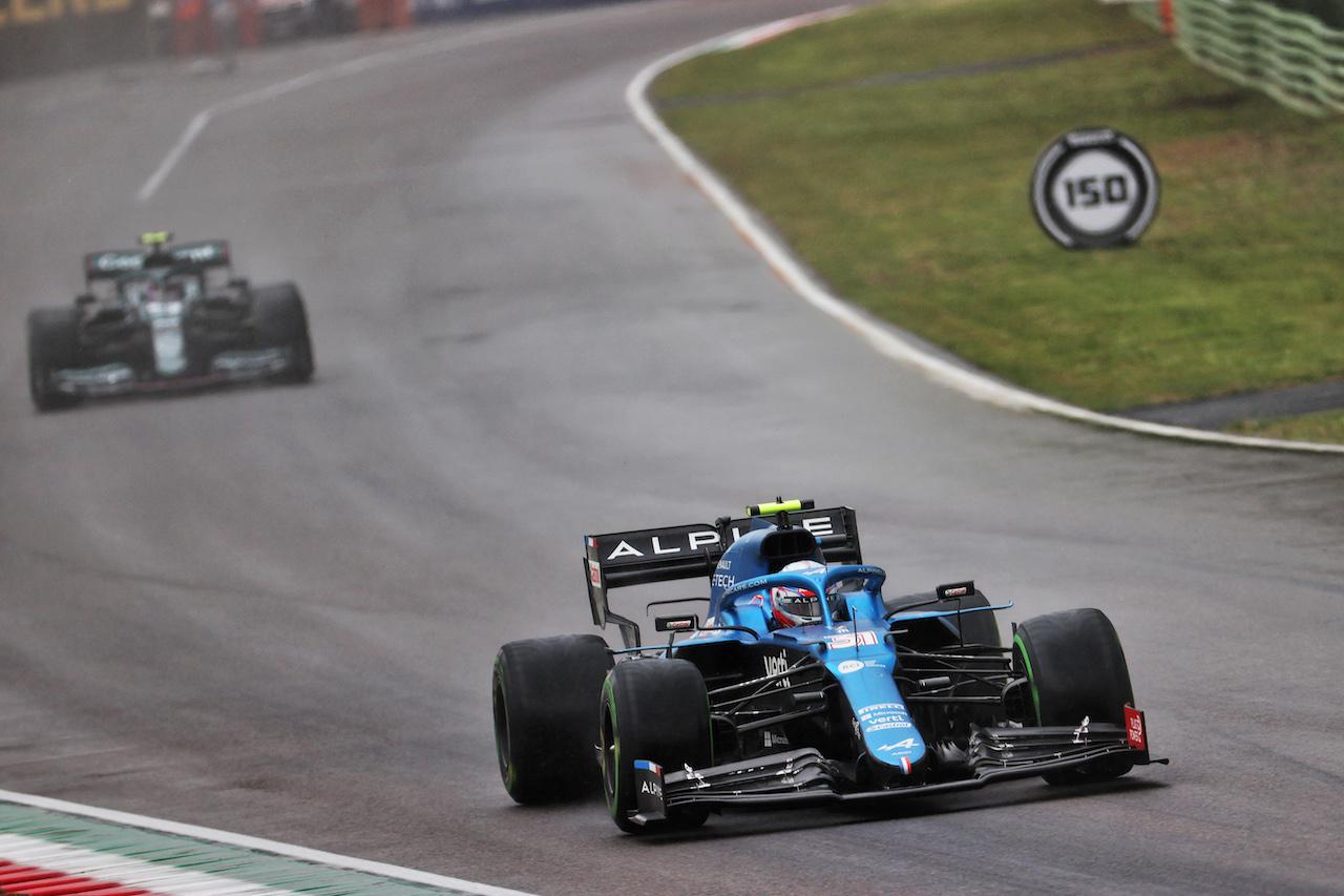 GP IMOLA, Esteban Ocon (FRA) Alpine F1 Team A521. 18.04.2021. Formula 1 World Championship, Rd 2, Emilia Romagna Grand Prix, Imola, Italy, Gara Day. - www.xpbimages.com, EMail: requests@xpbimages.com © Copyright: Batchelor / XPB Images
