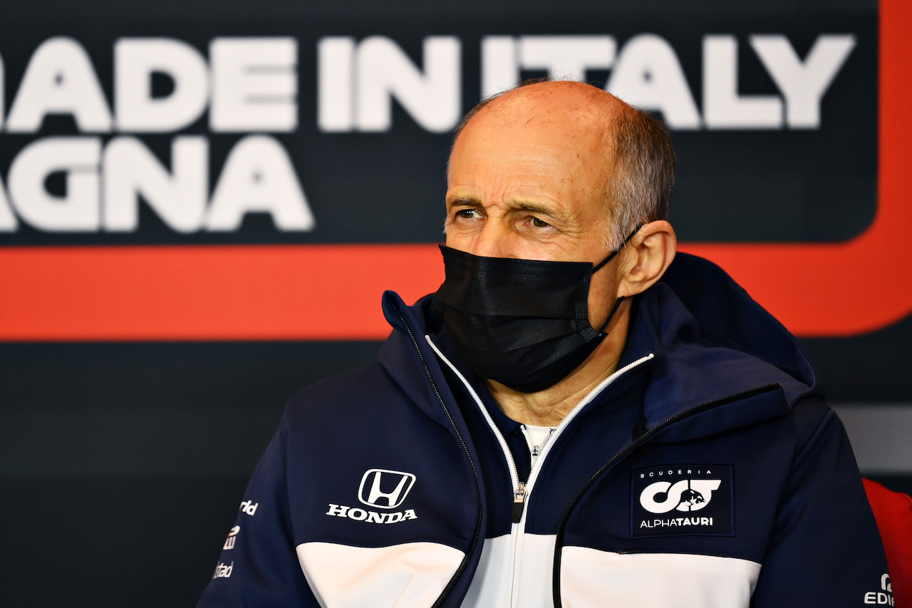 GP IMOLA, Franz Tost (AUT) AlphaTauri Team Principal in the FIA Press Conference. 16.04.2021. Formula 1 World Championship, Rd 2, Emilia Romagna Grand Prix, Imola, Italy, Practice Day. - www.xpbimages.com, EMail: requests@xpbimages.com © Copyright: FIA Pool Image for Editorial Use Only
