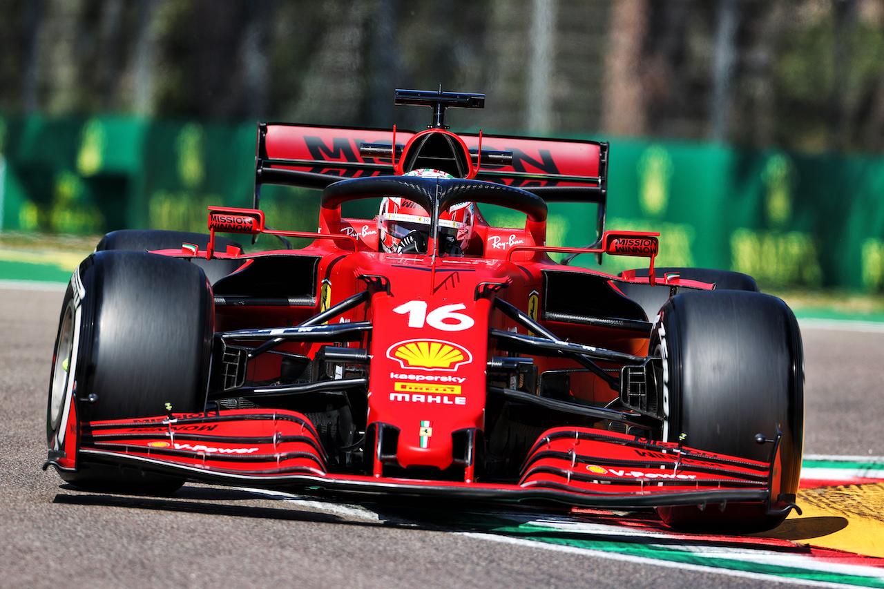 GP IMOLA, Charles Leclerc (MON) Ferrari SF-21. 16.04.2021. Formula 1 World Championship, Rd 2, Emilia Romagna Grand Prix, Imola, Italy, Practice Day. - www.xpbimages.com, EMail: requests@xpbimages.com © Copyright: Charniaux / XPB Images
