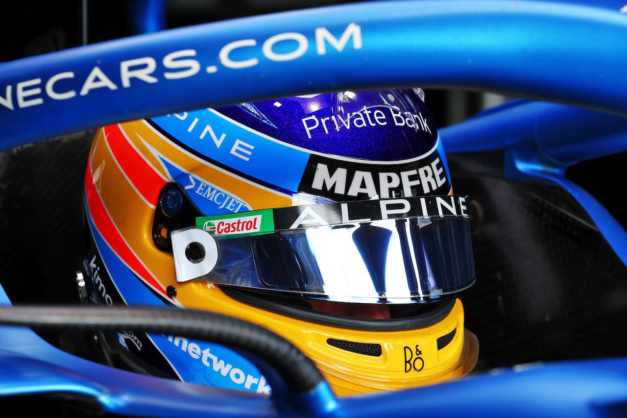 GP IMOLA, Fernando Alonso (ESP) Alpine F1 Team A521. 16.04.2021. Formula 1 World Championship, Rd 2, Emilia Romagna Grand Prix, Imola, Italy, Practice Day. - www.xpbimages.com, EMail: requests@xpbimages.com © Copyright: Moy / XPB Images