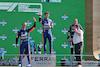GP ITALIA, (L to R): Gara winner Daniel Ricciardo (AUS) McLaren celebrates on the podium with Lando Norris (GBR) McLaren; Zak Brown (USA) McLaren Executive Director; e Valtteri Bottas (FIN) Mercedes AMG F1. 12.09.2021. Formula 1 World Championship, Rd 14, Italian Grand Prix, Monza, Italy, Gara Day. - www.xpbimages.com, EMail: requests@xpbimages.com © Copyright: Moy / XPB Images