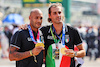 GP ITALIA, (L to R): Lamont Marcell Jacobs (ITA) Olympic 100m Champion e Gianmarco Tamberi (ITA) Olympic High Jump Champion on the grid. 12.09.2021. Formula 1 World Championship, Rd 14, Italian Grand Prix, Monza, Italy, Gara Day. - www.xpbimages.com, EMail: requests@xpbimages.com © Copyright: Batchelor / XPB Images