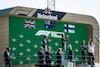 GP ITALIA, The podium (L to R): Lando Norris (GBR) McLaren, second; Daniel Ricciardo (AUS) McLaren, vincitore; Valtteri Bottas (FIN) Mercedes AMG F1, third; Zak Brown (USA) McLaren Executive Director. 12.09.2021. Formula 1 World Championship, Rd 14, Italian Grand Prix, Monza, Italy, Gara Day. - www.xpbimages.com, EMail: requests@xpbimages.com © Copyright: Bearne / XPB Images