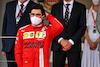 GP MONACO, Carlos Sainz Jr (ESP) Ferrari celebrates his second position on the podium. 23.05.2021. Formula 1 World Championship, Rd 5, Monaco Grand Prix, Monte Carlo, Monaco, Gara Day. - www.xpbimages.com, EMail: requests@xpbimages.com © Copyright: Batchelor / XPB Images
