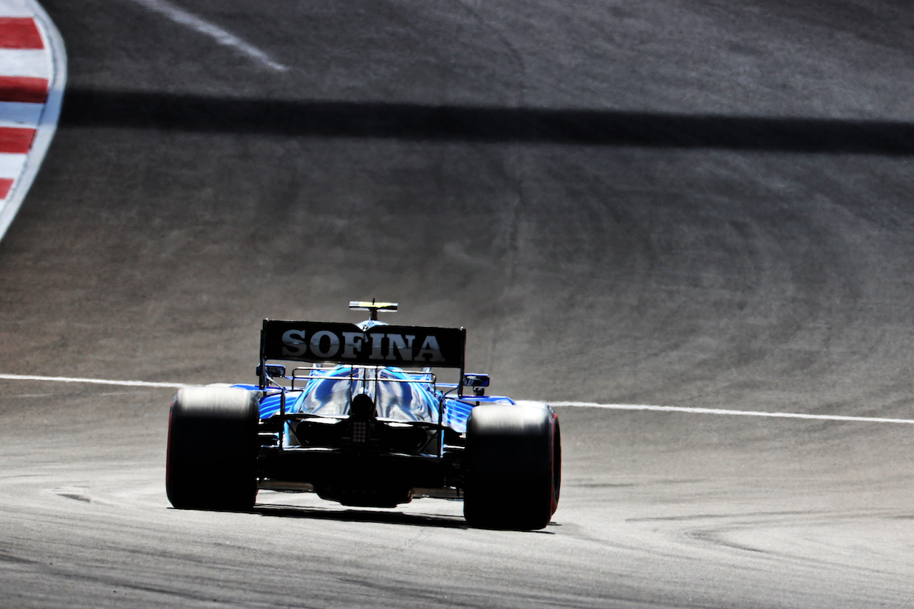 GP PORTOGALLO, Nicholas Latifi (CDN) Williams Racing FW43B. 01.05.2021. Formula 1 World Championship, Rd 3, Portuguese Grand Prix, Portimao, Portugal, Qualifiche Day. - www.xpbimages.com, EMail: requests@xpbimages.com © Copyright: Batchelor / XPB Images