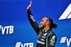 GP RUSSIA, Gara winner Lewis Hamilton (GBR) Mercedes AMG F1 celebrates on the podium. 26.09.2021. Formula 1 World Championship, Rd 15, Russian Grand Prix, Sochi Autodrom, Sochi, Russia, Gara Day. - www.xpbimages.com, EMail: requests@xpbimages.com © Copyright: Moy / XPB Images
