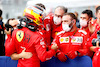 GP RUSSIA, Carlos Sainz Jr (ESP) Ferrari celebrates his third position with the team in parc ferme. 26.09.2021. Formula 1 World Championship, Rd 15, Russian Grand Prix, Sochi Autodrom, Sochi, Russia, Gara Day. - www.xpbimages.com, EMail: requests@xpbimages.com © Copyright: FIA Pool Image for Editorial Use Only