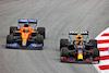 GP SPAGNA, Daniel Ricciardo (AUS) McLaren MCL35M e Sergio Perez (MEX) Red Bull Racing RB16B battle for position. 09.05.2021. Formula 1 World Championship, Rd 4, Spanish Grand Prix, Barcelona, Spain, Gara Day. - www.xpbimages.com, EMail: requests@xpbimages.com © Copyright: Charniaux / XPB Images