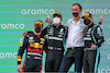 GP SPAGNA, The podium (L to R): Max Verstappen (NLD) Red Bull Racing, second; Lewis Hamilton (GBR) Mercedes AMG F1, vincitore; Jim Ratcliffe (GBR) Chief Executive Officer of Ineos / Mercedes AMG F1 Shareholder; Valtteri Bottas (FIN) Mercedes AMG F1, third. 09.05.2021. Formula 1 World Championship, Rd 4, Spanish Grand Prix, Barcelona, Spain, Gara Day. - www.xpbimages.com, EMail: requests@xpbimages.com © Copyright: Batchelor / XPB Images