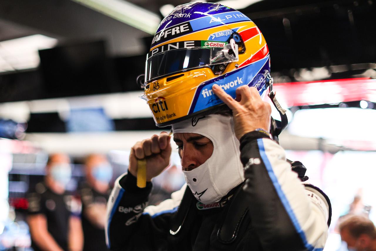 GP SPAGNA, Fernando Alonso (ESP) Alpine F1 Team. 08.05.2021. Formula 1 World Championship, Rd 4, Spanish Grand Prix, Barcelona, Spain, Qualifiche Day. - www.xpbimages.com, EMail: requests@xpbimages.com © Copyright: Charniaux / XPB Images