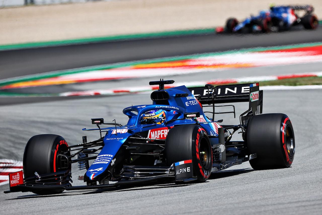 GP SPAGNA, Fernando Alonso (ESP) Alpine F1 Team A521. 08.05.2021. Formula 1 World Championship, Rd 4, Spanish Grand Prix, Barcelona, Spain, Qualifiche Day. - www.xpbimages.com, EMail: requests@xpbimages.com © Copyright: Moy / XPB Images