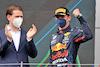 GP STIRIA, Gara winner Max Verstappen (NLD) Red Bull Racing celebrates on the podium. 27.06.2021. Formula 1 World Championship, Rd 8, Steiermark Grand Prix, Spielberg, Austria, Gara Day. - www.xpbimages.com, EMail: requests@xpbimages.com © Copyright: Batchelor / XPB Images