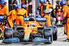 GP UNGHERIA, Daniel Ricciardo (AUS) McLaren MCL35M makes a pit stop. 01.08.2021. Formula 1 World Championship, Rd 11, Hungarian Grand Prix, Budapest, Hungary, Gara Day. - www.xpbimages.com, EMail: requests@xpbimages.com © Copyright: Charniaux / XPB Images